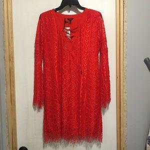 NWT Buffalo David Bitton Lace-A-Lot Route Dress